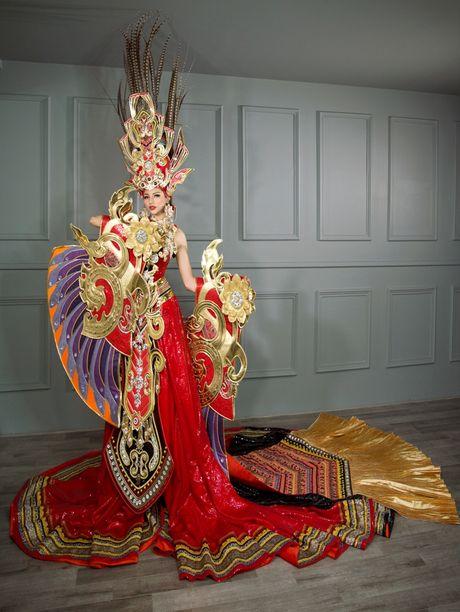 Choang voi trang phuc dan toc 45kg cua dai dien VN tai 'Hoa hau Sieu quoc gia' - Anh 3