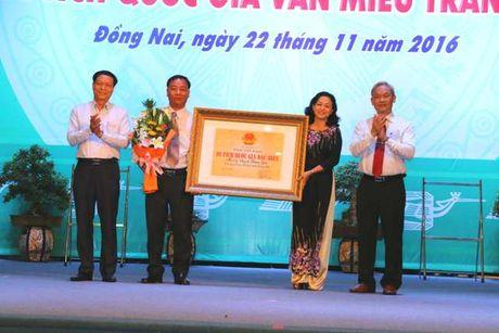 Dong Nai don nhan bang xep hang hai di tich cap quoc gia - Anh 1