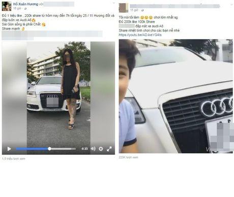 Hot girl xam tro bi boc me tro cau like dap xe Audi - Anh 2
