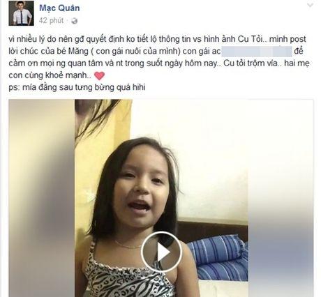 Mac Hong Quan khoe vo sinh con trai dau long - Anh 2