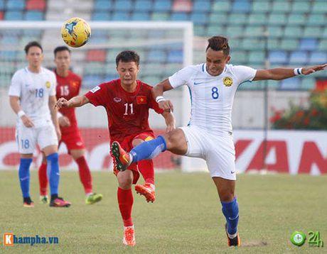 HLV Huu Thang & Cong Vinh to cau thu Malaysia da lao - Anh 13