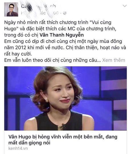 Sao Viet cung khan gia gui loi dong vien MC Van Hugo - Anh 10