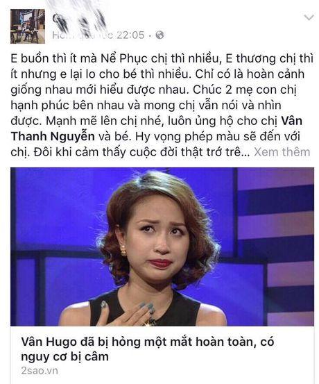 Sao Viet cung khan gia gui loi dong vien MC Van Hugo - Anh 11