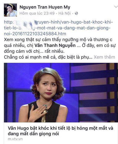 Sao Viet cung khan gia gui loi dong vien MC Van Hugo - Anh 2