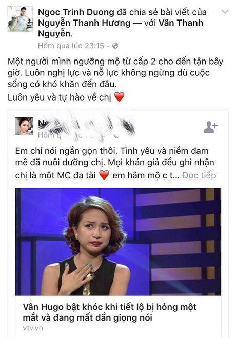 Sao Viet cung khan gia gui loi dong vien MC Van Hugo - Anh 4