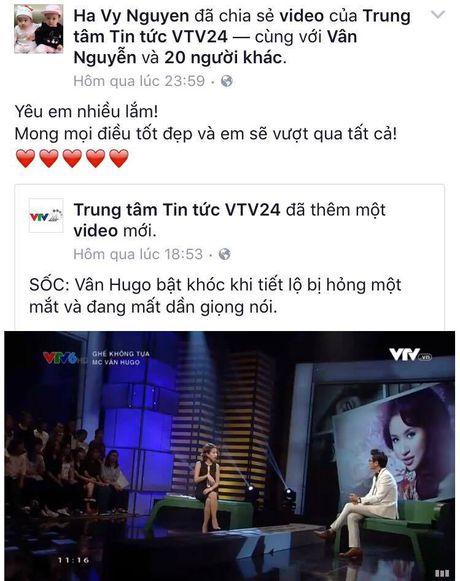 Sao Viet cung khan gia gui loi dong vien MC Van Hugo - Anh 6