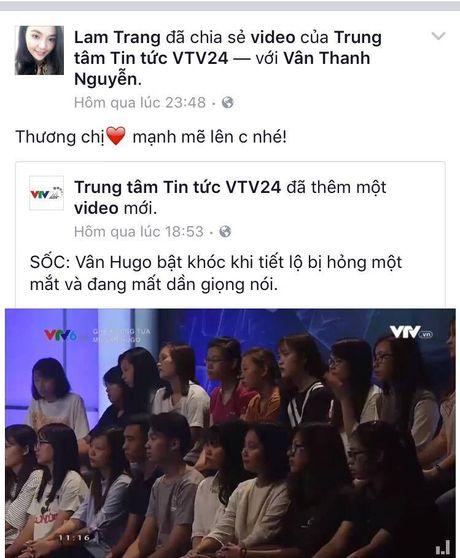 Sao Viet cung khan gia gui loi dong vien MC Van Hugo - Anh 7