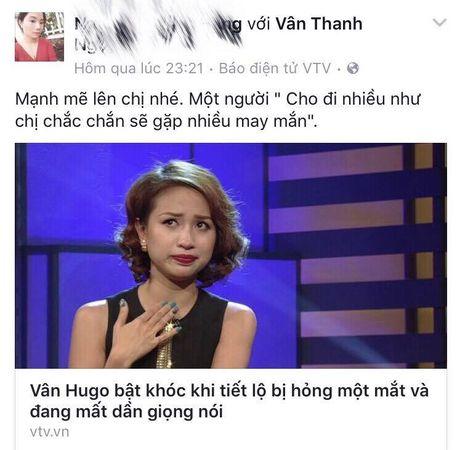 Sao Viet cung khan gia gui loi dong vien MC Van Hugo - Anh 8