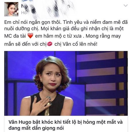 Sao Viet cung khan gia gui loi dong vien MC Van Hugo - Anh 9