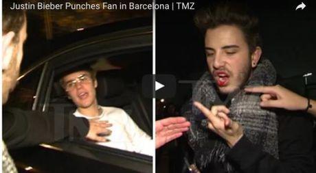 Justin Bieber danh fan ham mo chay mau mieng - Anh 1