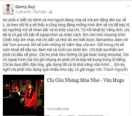 Nhieu nguoi ham mo lo lang suc khoe Thanh Van Hugo - Anh 2