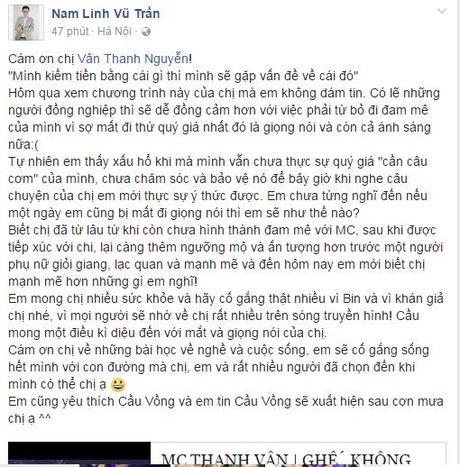 Nhieu nguoi ham mo lo lang suc khoe Thanh Van Hugo - Anh 3