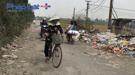 Bac Ninh: Kinh hoang bai rac ven duong lien ke tram bien the - Anh 5