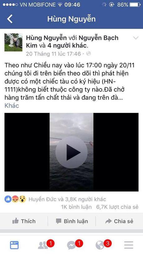 Xac minh thong tin tren Facebook ve viec xa chat thai xuong bien tai Ha Tinh - Anh 2