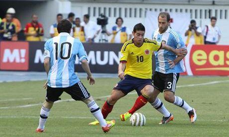 Argentina vs Colombia: Khong thang thi nguy - Anh 1