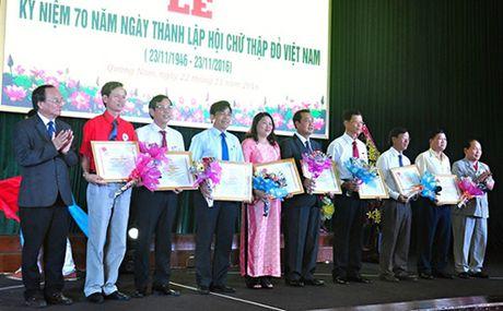 Quang Nam: Ky niem 70 nam Ngay thanh lap Hoi Chu thap do Viet Nam - Anh 1