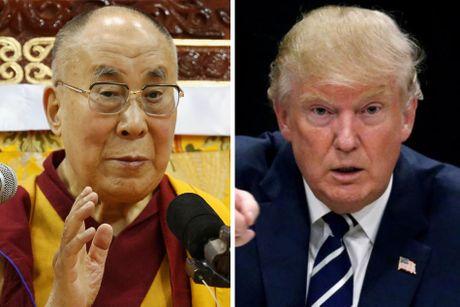 Trung Quoc tuc gian vi Dalai Lama muon gap Donald Trump - Anh 1