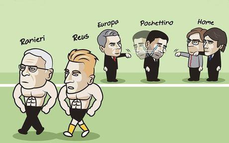 Biem hoa 24h: Ranieri, Reus 'khoe co bap', Mourinho che cuoi Tottenham - Anh 4