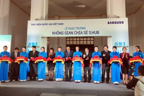 Mien phi 'Khong gian chia se' cua Samsung o Thu vien Quoc gia Ha Noi - Anh 1