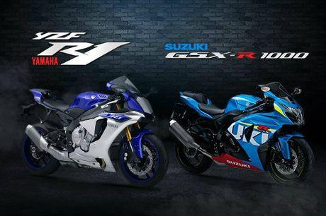 Suzuki GSX-R1000 so gang voi Yamaha YZF-R1 - Anh 1