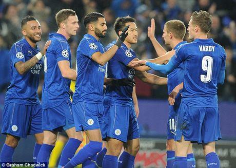 Cau thu Leicester duoc thuong dam cho chien tich tai Champions League - Anh 1