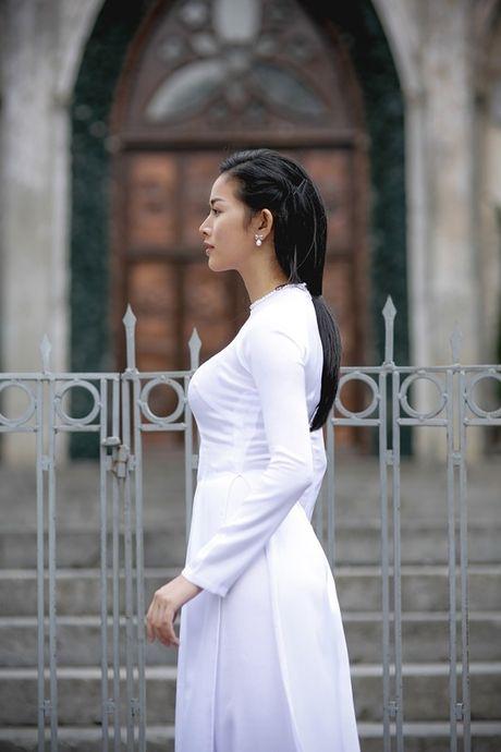 Mai Thanh Ha dep den nao long voi ao dai giua troi Thu Ha Noi - Anh 14