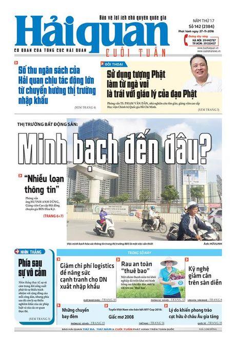 Nhung tin, bai hap dan tren Bao Hai quan so 142 phat hanh ngay 27-11-2016 - Anh 1