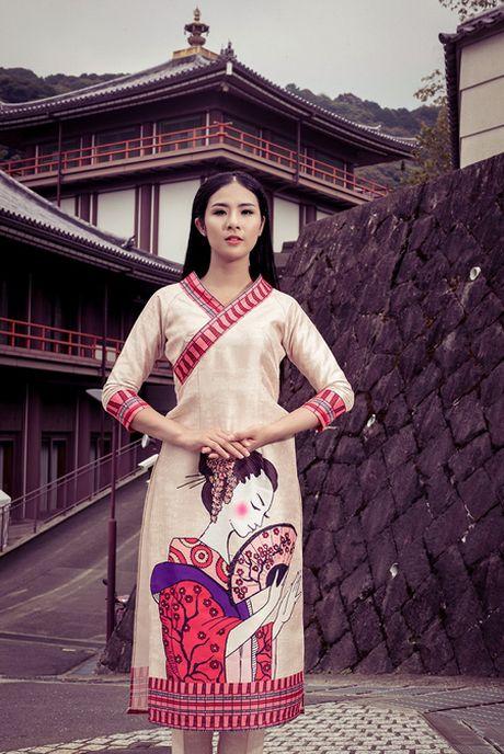 Hoa hau Ngoc Han khoe sac voi ao dai o Nhat Ban - Anh 3