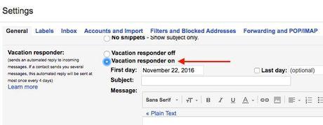 Thiet lap tra loi tu dong tren Outlook.com, Outlook 2016 va Gmail - Anh 14