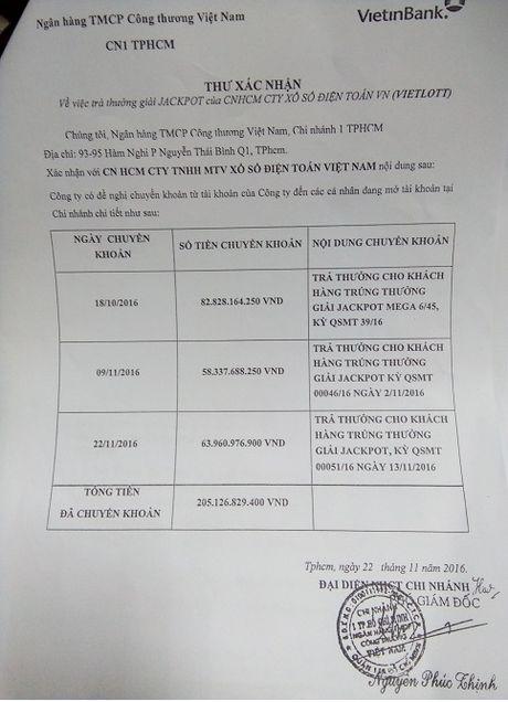 Vietinbank xac nhan Vietlott da tra thuong hon 200 ty dong qua ngan hang - Anh 2