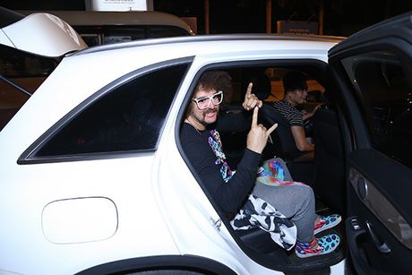 Lilly Nguyen, Mai Ngo ra san bay don 'ong hoang party rock' Redfoo - Anh 11