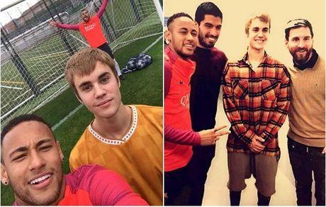 Justin Bieber so tai voi Neymar - Anh 1