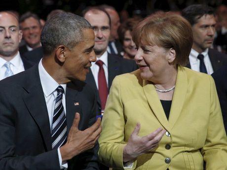 Tong thong Obama va Thu tuong Merkel: Tinh ban con mai - Anh 1