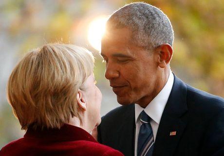 Tong thong Obama va Thu tuong Merkel: Tinh ban con mai - Anh 2