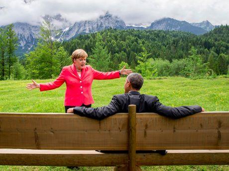 Tong thong Obama va Thu tuong Merkel: Tinh ban con mai - Anh 3