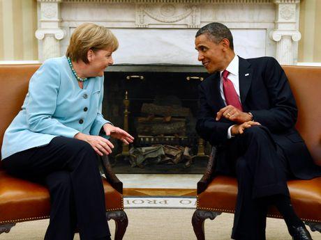 Tong thong Obama va Thu tuong Merkel: Tinh ban con mai - Anh 6