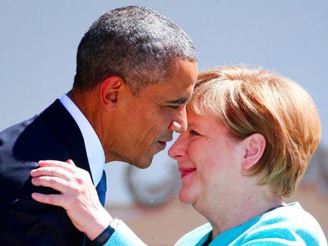 Tong thong Obama va Thu tuong Merkel: Tinh ban con mai - Anh 7