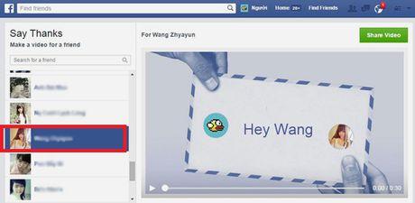 Huong dan cach lam video cam on tren Facebook danh tang ban be, nguoi than - Anh 1