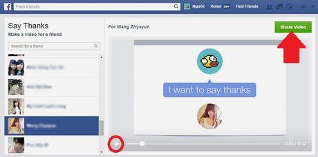 Huong dan cach lam video cam on tren Facebook danh tang ban be, nguoi than - Anh 6