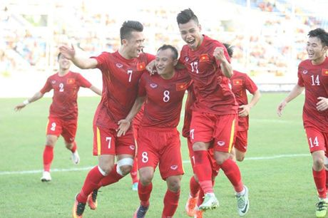 Doi tuyen Viet Nam tang 7 bac tren bang xep hang FIFA thang 11/2016 - Anh 1