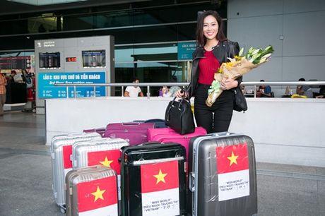 Dieu Ngoc mang hon 100 kg hanh ly toi Miss World 2016 - Anh 5