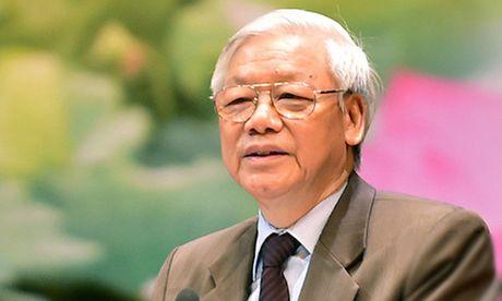Truyen hinh truc tiep buoi noi chuyen cua Tong Bi thu Nguyen Phu Trong voi can bo, giang vien, sinh vien truong Dai hoc Quoc gia Lao - Anh 1