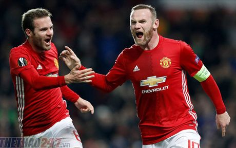 Man United 4-0 Feyenoord: Ruc ro Rooney - Anh 1
