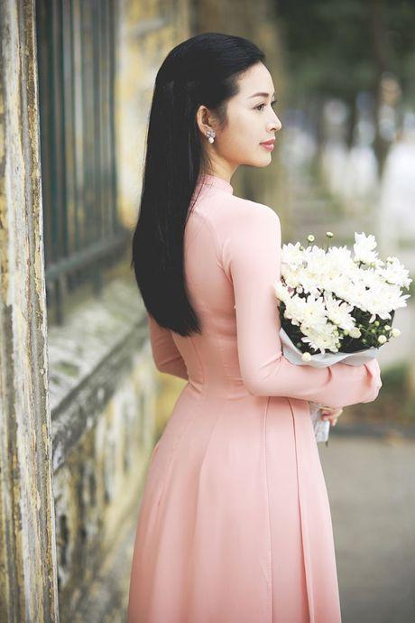 Mai Thanh Ha dep nao long voi ao dai giua troi dong Ha Noi - Anh 5