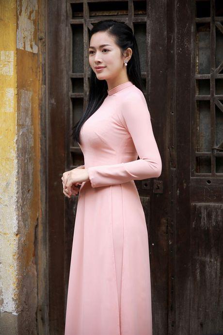 Mai Thanh Ha dep nao long voi ao dai giua troi dong Ha Noi - Anh 6