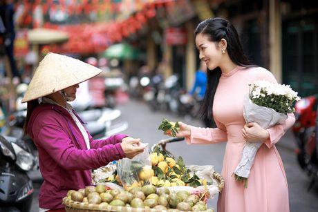 Mai Thanh Ha dep nao long voi ao dai giua troi dong Ha Noi - Anh 8