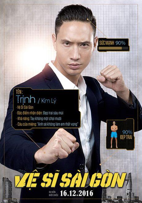 Hinh anh hai huoc cua Kim Ly, Chi Pu trong poster 'Ve si Sai Gon' - Anh 1