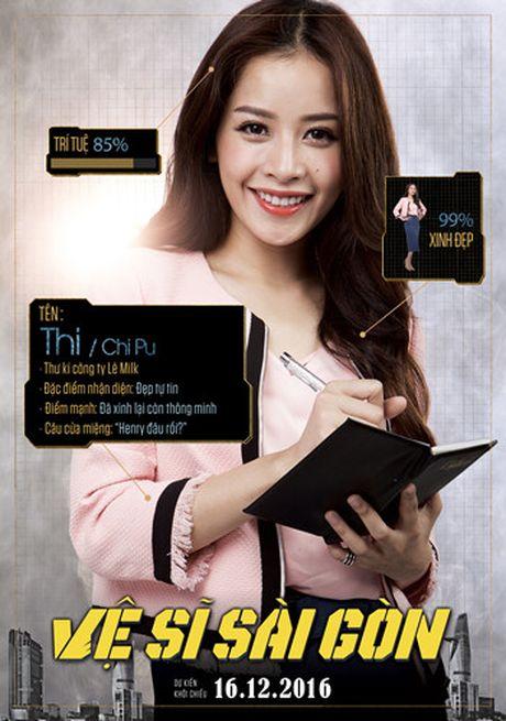 Hinh anh hai huoc cua Kim Ly, Chi Pu trong poster 'Ve si Sai Gon' - Anh 2