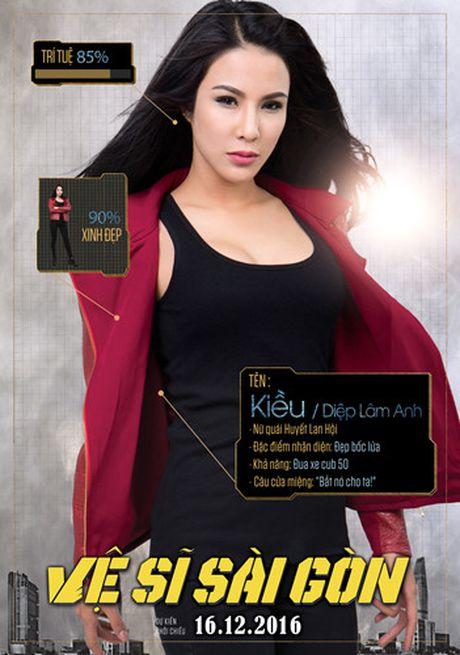 Hinh anh hai huoc cua Kim Ly, Chi Pu trong poster 'Ve si Sai Gon' - Anh 4