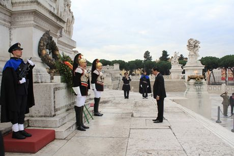 Toan canh: Chu tich nuoc tham chinh thuc Italy va Toa thanh Vatican - Anh 12